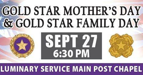 Gold Star Mother's and Family Day Wishes Images