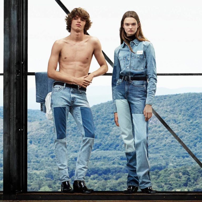 Fernando Albaladejo and Lulu Tenney star in Calvin Klein Jeans fall winter 2018 campaign