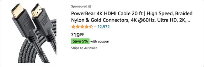 كابل HDMI على Amazon