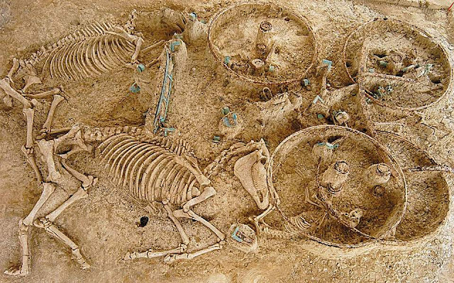 Ancient Greek site where men were buried with their horses to be restored