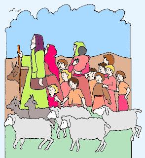 Giacobbe e famiglia ritornano in Canaan