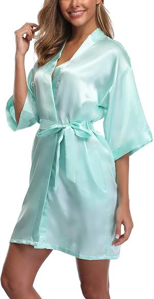Cheap Silky Satin Robes For Women