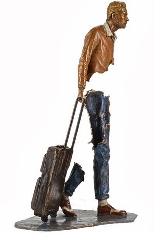 02-French-Artist-Bruno-Catalano-Bronze-Sculptures-Les Voyageurs-The-Travellers-www-designstack-co