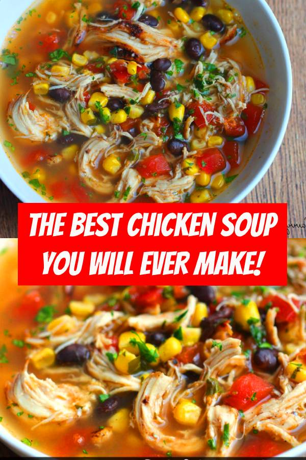 You will find this is The BEST Chicken Soup You Will Ever Make! I will say this is one of my few dishes that I make and when I taste it – it really tastes like it is a from a restaurant. Also it is gluten and dairy free which is awesome for families with allergies. You could make this recipe easily in the crock pot – simply have the crock pot on low. #crockpot #chicken #chickensoup #soup #comfortfood