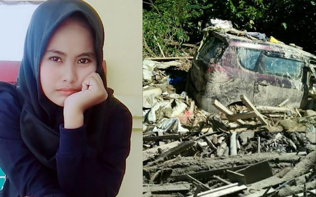 Kisah Gadis Cantik Yang Lolos Dari Maut Karena Atap Mobil Saat Banjir Bandang Luwu Utara
