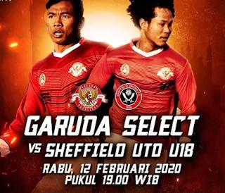 Segera  Digelar, Jangan Lewatkan Pertandingan Garuda Select Vs Sheffield