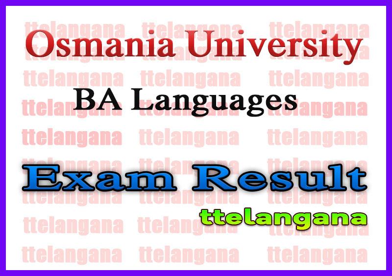 Osmania University BA Exam Results