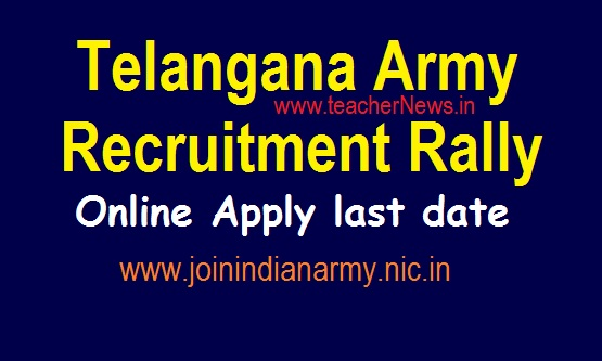 Telangana Indian Army Recruitment Rally (Karimanagar) 2019, Apply for Open Rally (Soldier) @ joinindianarmy.nic.in
