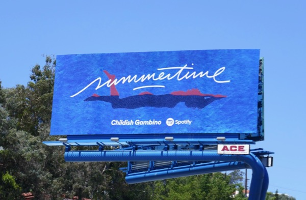 Childish Gambino Summertime Spotify billboard