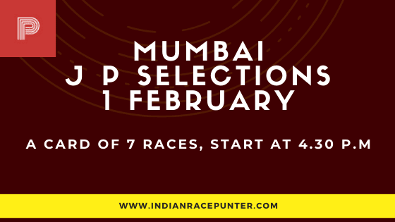 Mumbai Jackpot Selections 1 February, Jackpot Selections by indianracepunter,