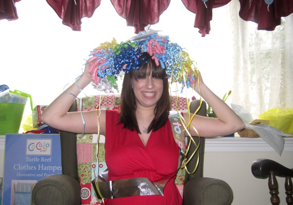 And The Obligatory Paper Plate And Ribbon Hat Picture. It Took Two Plates  To Make That Monstrosity.