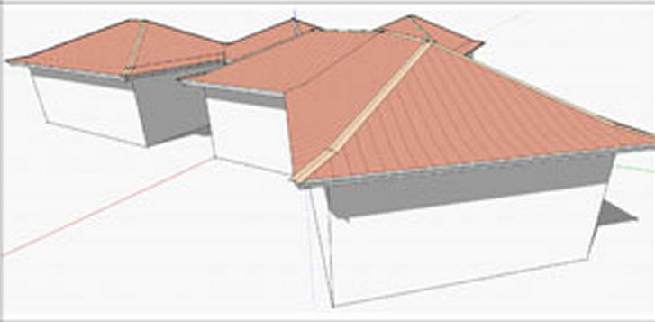 how to draw an angled roof sketchup