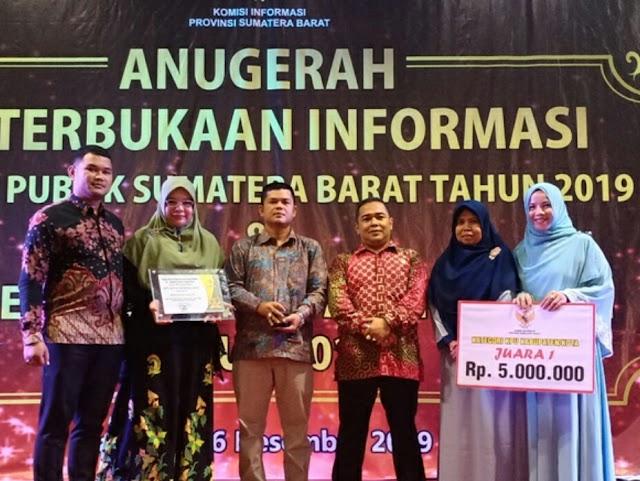 KPU Sawahlunto sabet Anugrah Keterbukaan Informasi