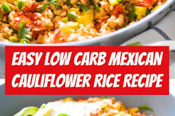Easy Low Carb Mexican Cauliflower Rice Recipe #lowcarb #keto #cauliflower #vegan #sidedish #cauliflowerrice