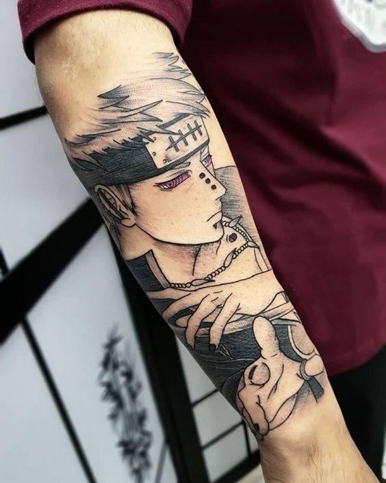 sad Anime Tattoos Sleeve
