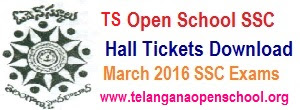 TOSS/ TS Open SSC Hall tickets 2017 Telangana Open School 10th Hall tickets Download
