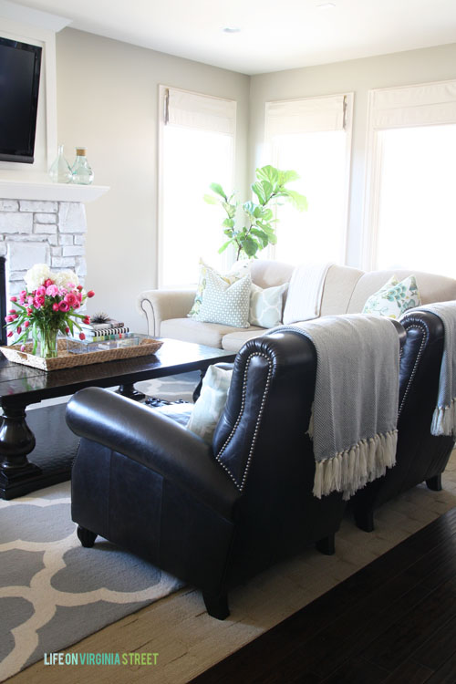 How To Visually Lighten Up Dark Leather Furniture