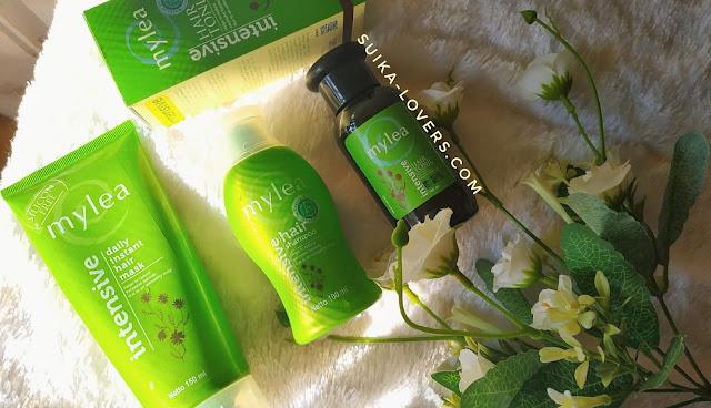 review shampoo, hairmask hair tonic mylea