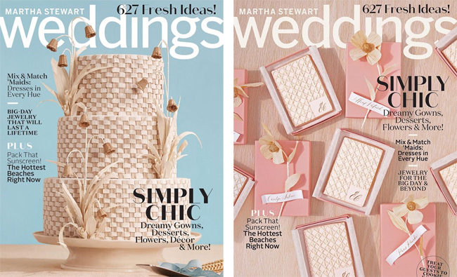 Martha Moments Martha Stewart Weddings Two Covers For The Summer Issue