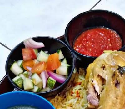 Resepi Nasi Ayam Mandy, Acar Dan Sambal