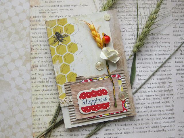 открытка с пчелой