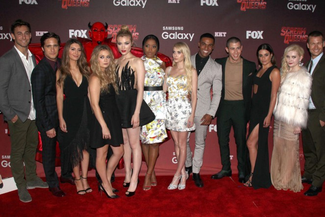 Cast of 'Scream Queens' at the LA premiere