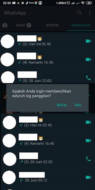Cara Menghapus Log Panggilan Whatsapp 4
