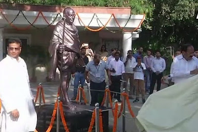 Rajghat Gets First Mahatma Statue