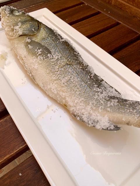Lubina a la sal (al vapor)
