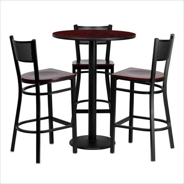 design outdoor metal bar table set
