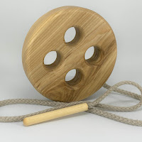 Lotes wooden toys, TT18, Threading Knob
