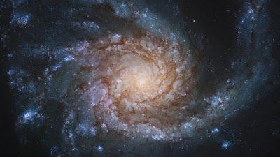 Spiral Galaxy NGC 4254, Stars, Space