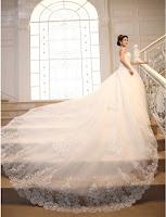 gaun pengantin putih modern