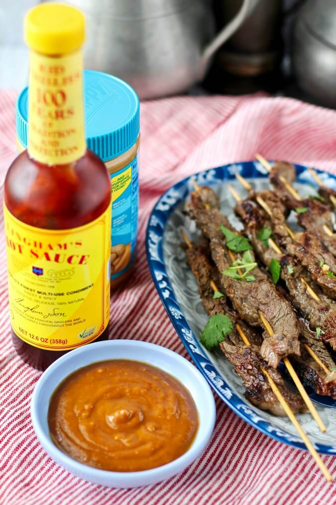Beef Satay with Peanut Sauce with Chillie Sauce