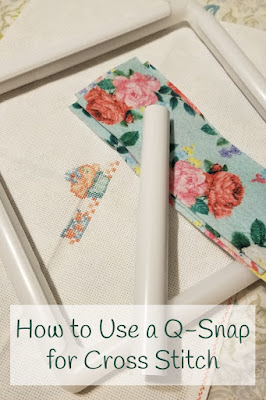 How to Use a Q-Snap for Cross Stitch Pin