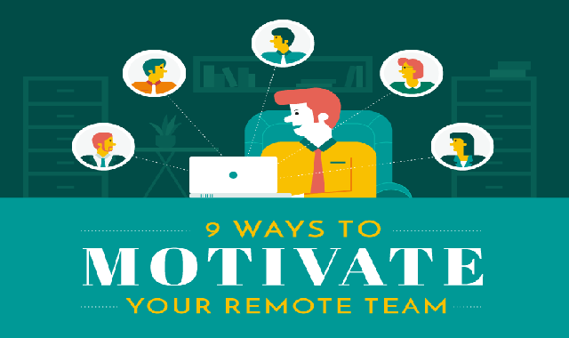 9 Ways To Motivate Your Remote Team #infographic