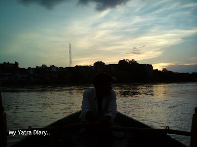Boat ride on the Yamuna River in Mathura