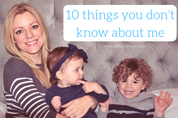 Blogger Sarah Arthurwears sitting with her children Charlotte and Arthur caption - 10 things you don't know about me