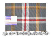 Gray, Red and Yellow Plaid Placemat