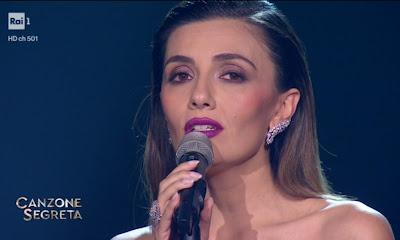Serena Rossi canzone segreta ascolti TV 16 aprile