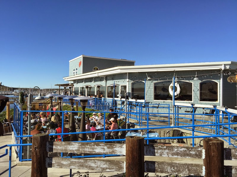 The patio at Sam's Chowder House on a beautiful December day