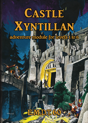 Castle Xyntillan by Gabor Lux - E.M.D.T. release #60 - Cover art by Peter Mullen