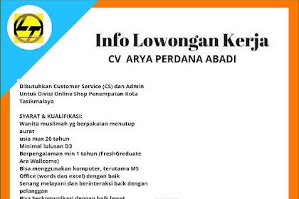 Lowongan Kerja Customer Service (CS) dan Admin