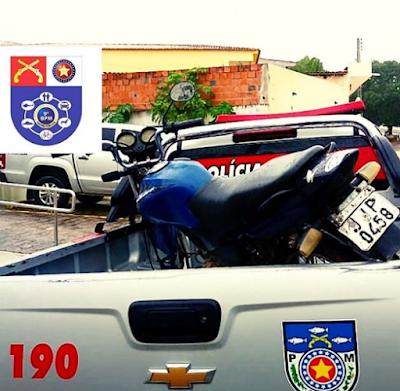 Em Mata Grande/AL, polícia prende homem e  apreende motocicleta com queixa de roubo/furto