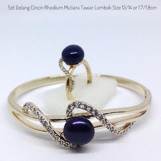 Harga Satu Set Perhiasan dua Mutiara Tawar Lombok