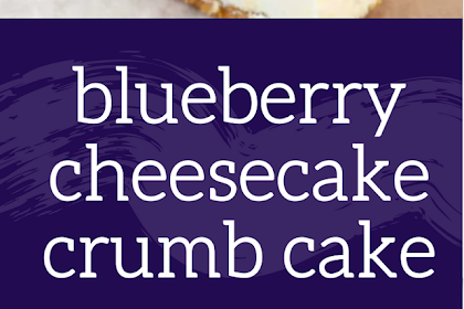 Delicious Combo Taste of Blueberry Cheesecake Crumb Cake in Every Single Bite