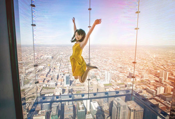 2 days in Chicago itinerary: Skydeck at the WIllits Tower