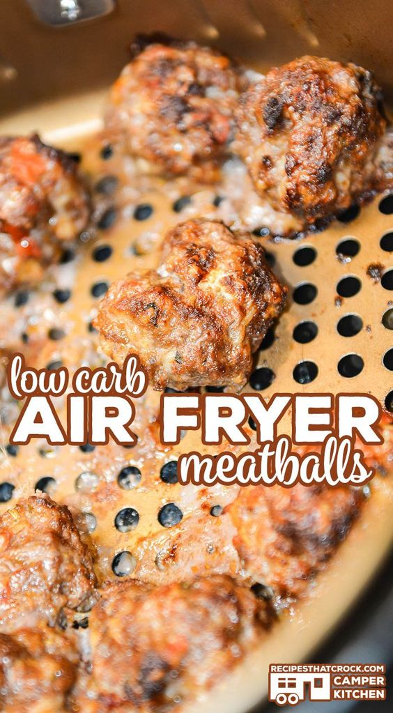 Air Fryer Meatballs Low Carb Kathleen S Food