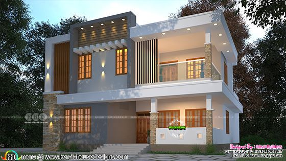 4 BHK contemporary house rendering