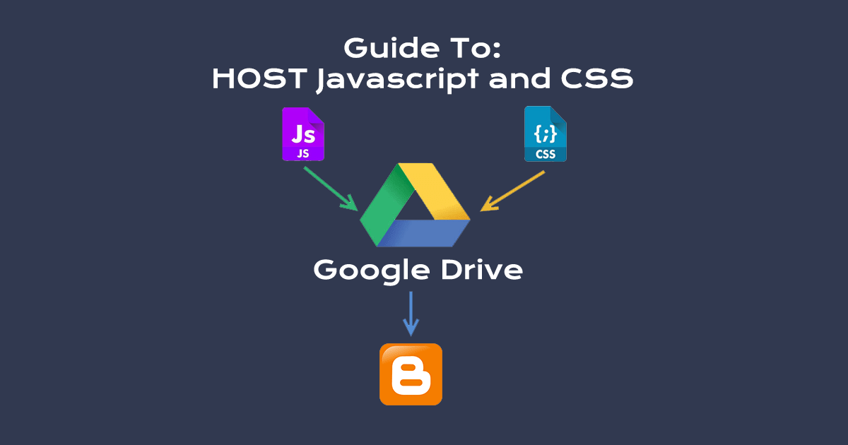 host js css to google drive